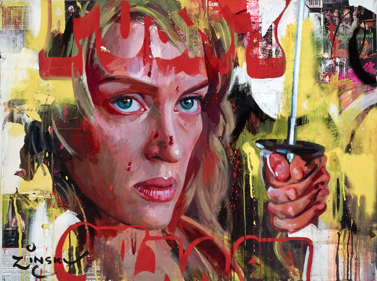 The Bride, Kill Bill by zinsky -  sized 32x25 inches. Available from Whitewall Galleries
